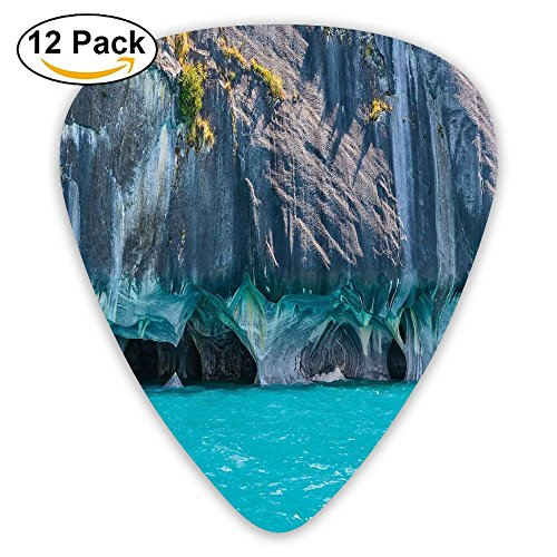 Newfood Ss Marble Caves Of Lake General Carrera Chile South American Natural Guitar Picks 12/Pack Set
