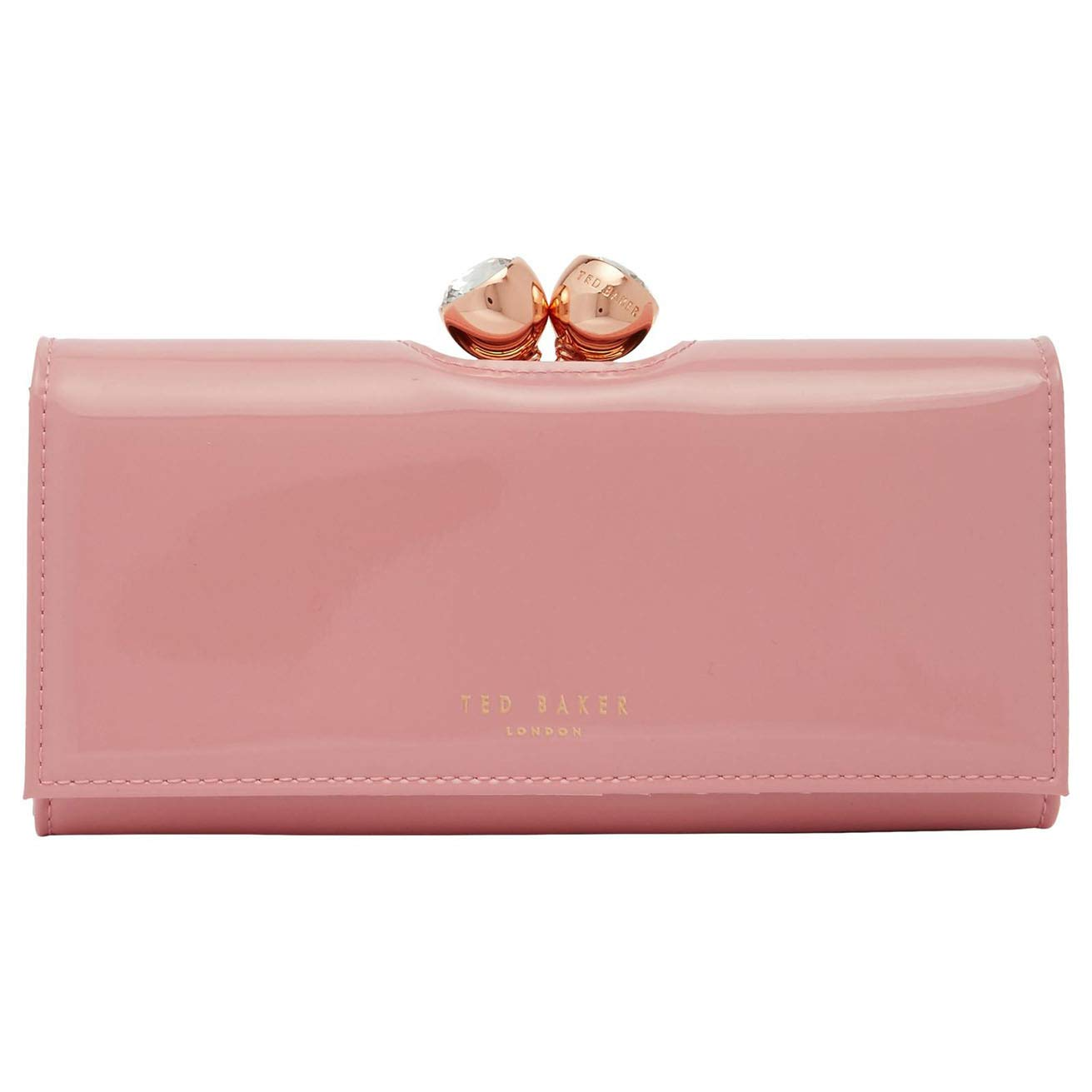 7ff51d0de2a Ted Baker New Womens Large Dusky Pink Crystal Bobble Leather Purse Wallet  Boxed: Amazon.co.uk: Luggage