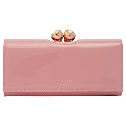 3e0bf421511c Ted Baker New Womens Large Dusky Pink Crystal Bobble Leather Purse Wallet  Boxed  Amazon.co.uk  Luggage