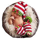 WENDYWU Baby Infant Newborn Handmade Crochet Beanie Hat Clothes Baby Photograph Props
