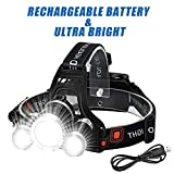 Wesho LED Head torch Rechargeable headlight...