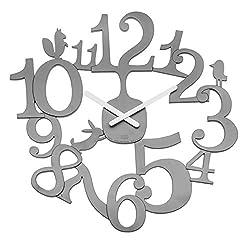 Koziol [pi:p Wall Clock, Cool Grey