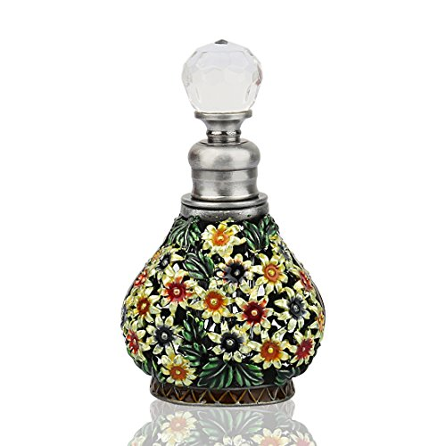 - YUFENG Vintage Mass of Flowers Perfume Bottle Empty Refillable Antique Bottles Crafts