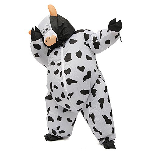 MAUBHYA SUMO Fancy Dress Cosplay Performance Fan Inflatable Cows Toy Costume Suit Christmas Party 170cm -