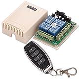 ZOTER Universal DC 12V 4 Channels 4CH Wireless 315mhz Remote Control Switch Button Garage Gate Door Opener + Transmitter