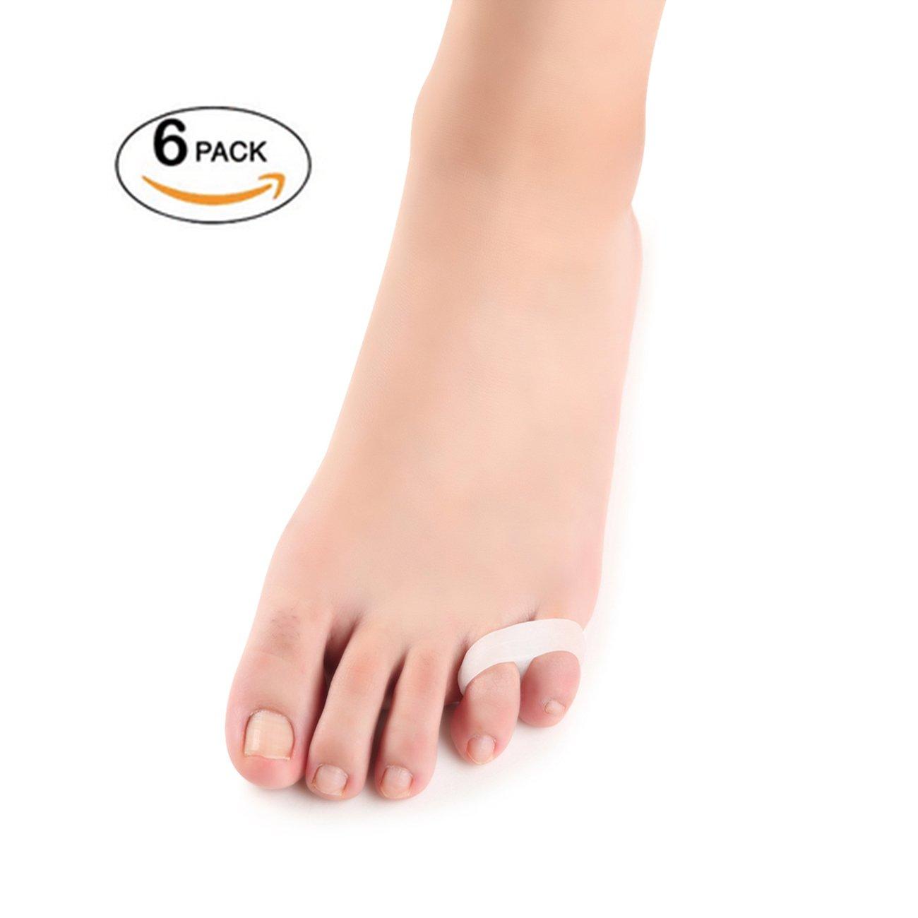Dr. Kong 6Pcs Hallux Vaglus Pain Relief Bunion Aid Corrector Soft Gel Toe Straightener