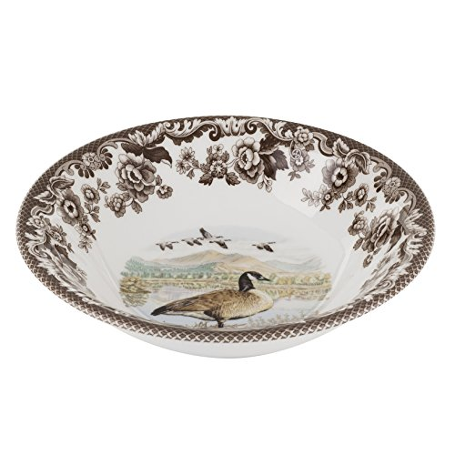 Spode 1597129 Woodland Canadian Goose Ascot Cereal Bowl Woodland Pasta Bowl