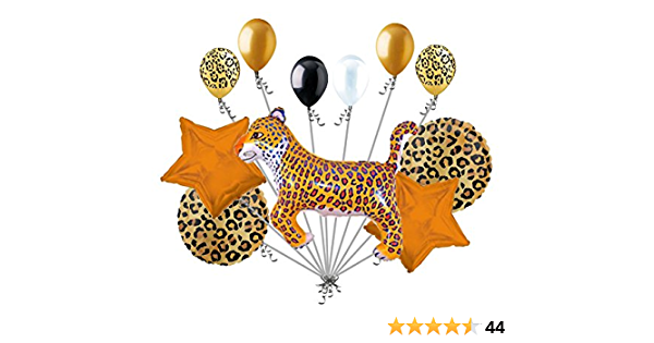 16 Round Leopard Print Balloon Animal Print Safari Balloons Animal Skin Balloon Leopard Decoration Jungle Balloon Animal Hide Balloon