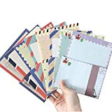 B&S FEEL 32 Special Design Writing Stationery Paper & 16 Envelope Set with Bonus 16 pcs Label Seal Sticker
