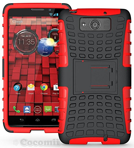 Motorola DROID Maxx / DROID Ultra Case, Cocomii® [HEAVY DUTY] Grenade *NEW* [ULTRA TITAN ARMOR] Premium Shockproof Kickstand Bumper [MILITARY DEFENDER] Full-body Dual Layer Hybrid Cover (Red) ★★★★★ (Covers For Droid Maxx)