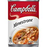 Each satisfying spoonful of Campbell's Condensed Minestrone Soup brims with a bounty of farm-grown veggies—from carrots, potatoes, green beans, peas, tomatoes, zucchini and more!—combined with beans and enriched pasta shells. You'll find comf...