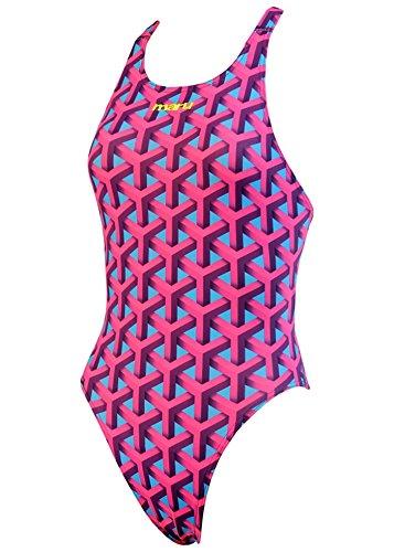 Maru Womens Gridlock Swimsuit Size 34