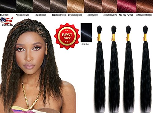 Wet N Wavy Bulk hair HUMAN HAIR QUALITY Micro Braiding Super Bulk Style 2 Packs (4 Bundles) DEAL Length (18