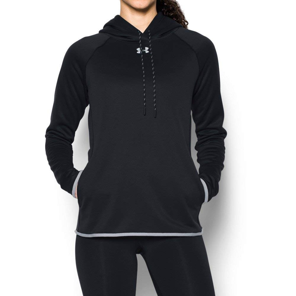 Under Armour Women's 1295300 UA Double Threat Armour Fleece, Black, XL