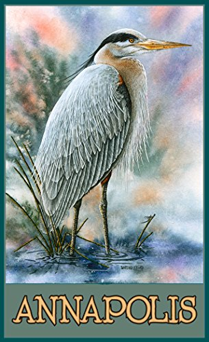 Northwest Art Mall BA-3675 GBH Annapolis Great Blue Heron 11