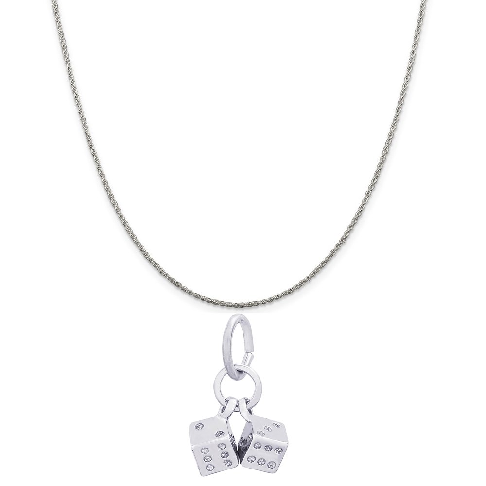 Box or Curb Chain Necklace Rembrandt Charms Sterling Silver Good Luck Charm on a 16 18 or 20 inch Rope