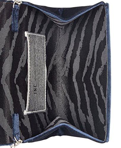 INC Velvet Bow Leesie Blue Handbag Clutch Womens Small vqrETw8v