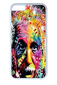 iPhone 6 Case, iPhone 6 Cases -albert einstein Custom PC Hard Case Cover for iphone 6 4.7 inch White