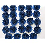 Navy-Blue-Carnations-Set-of-24-15-Scalloped-Paper-Flowers-Small-Roses