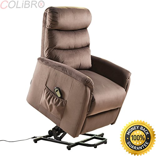 COLIBROX--Electric Lift Chair Recliner Reclining Chair Remote Living Room Furniture New. lift recliners for elderly. lift chair recliner medicare. electric recliner chair. amazon power recliners. by COLIBROX (Image #9)