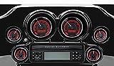 Dakota Digital MVX-8K Voltmeter Gauge - Black/Red Background - Black Bezel MVX-8K-V-KR-K