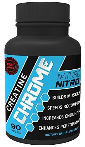Naturo Nitro Chrome de créatine Magnapower ™ (créatine magnésium) — nouvelle formule de créatine de qualité favorise des Gains rapides en endurance, force et croissance musculaire maigre - 90ct, 30 portions
