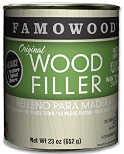 FamoWood 36021100 Original Wood Filler, 1.0 Pint  Alder