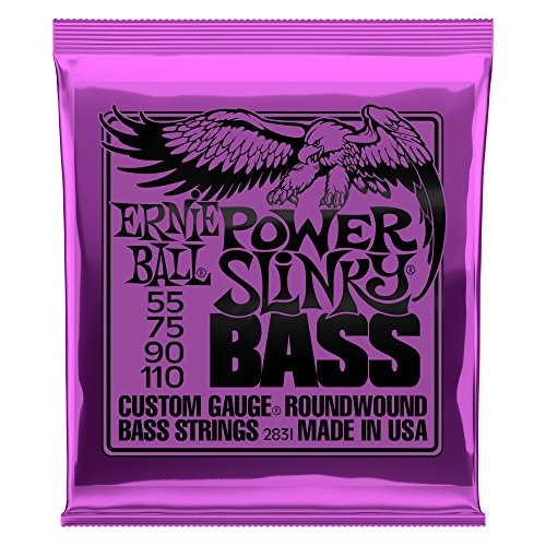 Ernie Ball Power Slinky Nickel Wound Bass Set, .055 - .110