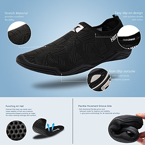 Barefoot Quick Men Women's Slip Dry Black Beach 2 hiitave Water Aqua Shoes Sport On Socks wEIgpqEdcW