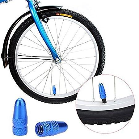 Valvula tapa - TOOGOO(R) 2pzs Cubierta de boca de valvula de frances de bicicleta bicicleta de MTB de aleacion de aluminio Tapon antipolvo de valvula de ...