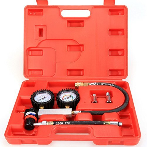 -21 Cylinder Leakage Leak Detector Engine Compression Tester Gauges Set ()
