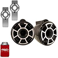 Wet Sounds for Mastercraft 2007& Up - REV10 10 Black Tower Speakers & Mastercraft Tower Adapters
