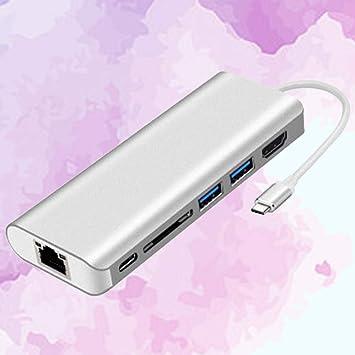Uonlytech - Lector de Tarjetas SD (USB C Hub 6 en 1, Puerto ...
