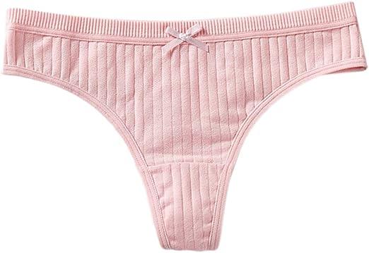 CARRYKT Mujeres Sexy Low Rise Cotton G-String Lencería Sólido ...