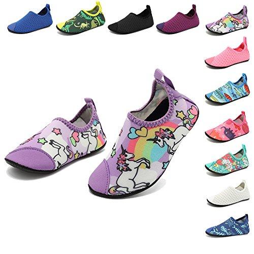 HooyFeel Cute Kids Toddler Sneakers Lightweight Slip on Swim Water Shoes Aqua Barefoot Socks for Baba Boys and Girls by HooyFeel (Image #8)