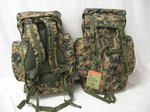 Digital Woodland Camouflage Rio Grande Travel Pack 25 Liter – 21 x 12 x 6 Inches, Backpackers Backpack Bag, Outdoor Stuffs
