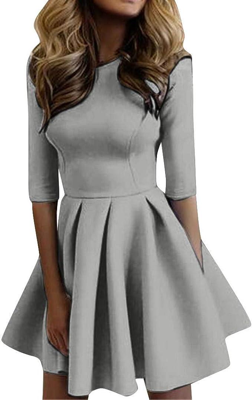 Top Kleid Rüschen Verband Slim Fit Cocktail Kleider Sommer Damen Urlaub