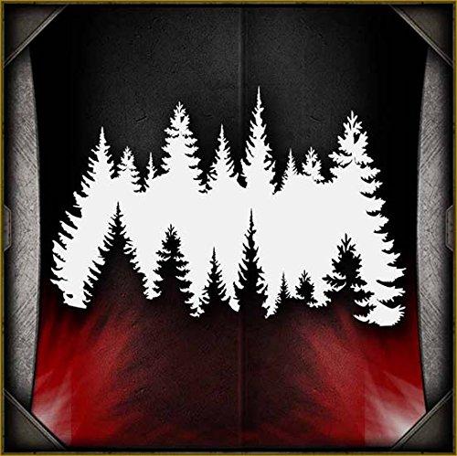 Treeline AirSick Airbrush Stencil Template