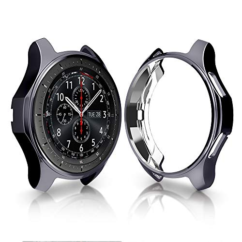 Case for Samsung Gear S3 Frontier SM-R760, Belyoung Soft TPU Plated [Scratch-Proof] All-Around Protective Bumper Shell for Samsung Gear S3 Frontier SM-R760/Classic Galaxy Watch 46mm SM-R800 Smartwatch