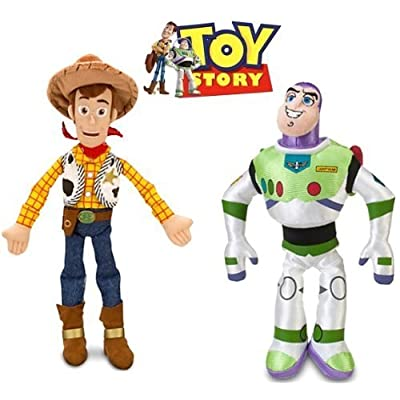 Disney Toy Story Woody and Buzz Lightyear Plush Doll Set: Toys & Games