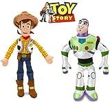 Disney Toy Story Woody and Buzz Lightyear Plush Doll Set