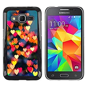 PC/Aluminum Funda Carcasa protectora para Samsung Galaxy Core Prime SM-G360 Love Lights New York Love City / JUSTGO PHONE PROTECTOR