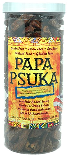 Papa Psuka -- Baked Chunky Dried Meat (Pooch Liver Treats)