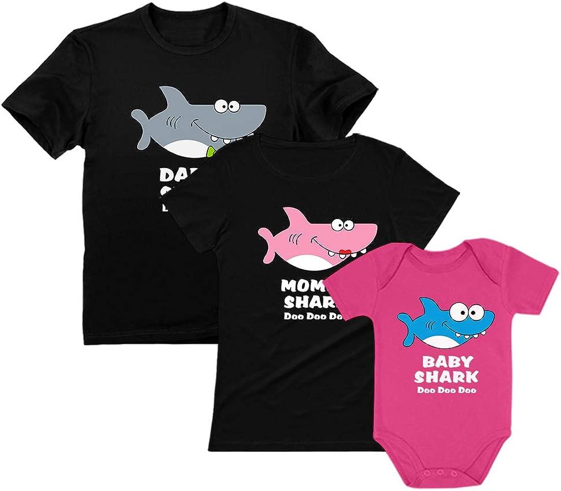 Baby Shark Mommy Shark Daddy Shark Family Set - Gift for Valentines Doo Doo Doo
