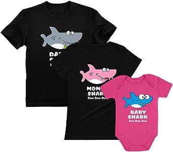 Official Merchandise Baby Shark and Daddy Shark Boys Long Sleeve T-Shirt