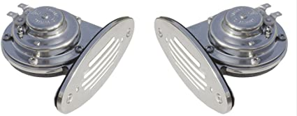 High Pitch Boat Marine Ongaro Mini Single Drop In Horn w//Stainless Steel Grill