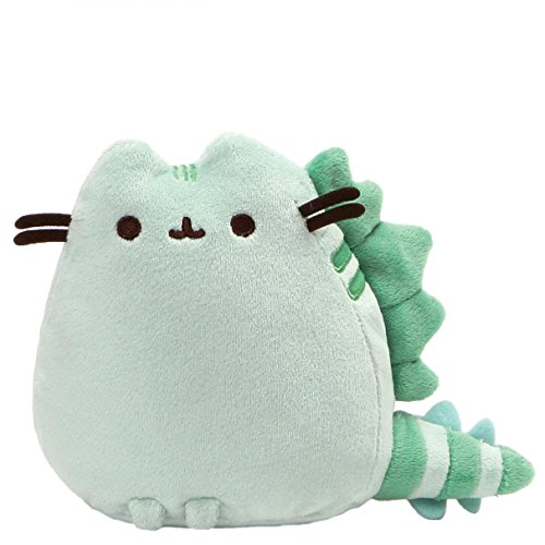 GUND Pusheen Pusheenosaurus Dinosaur Cat Plush Stuffed Animal, Green, 6