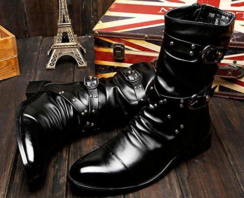 Plus Stivali Stivaletti black Stivali Veloce Boots Martin Unici HYLM Boots Ribattini Stivali Nuovo e Stivali HzxqAwTqpY