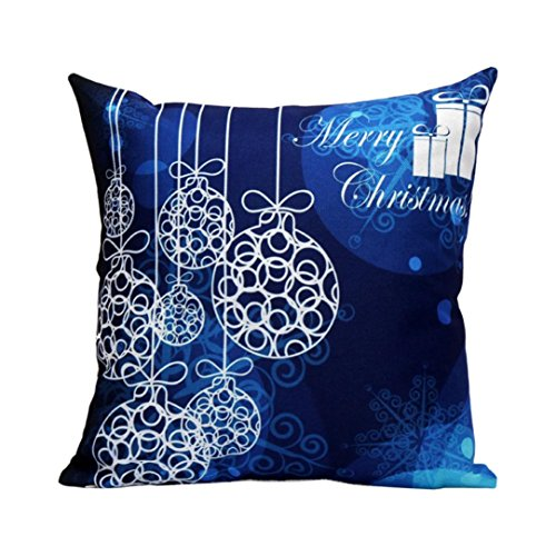 ammazona pillowcase christmas sofa waist throw pillow case cushion cover home decor f - Blue And Silver Christmas Decorations