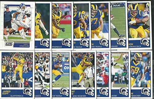 2019 Panini Score Football Los Angeles Rams Team Set 13 Cards W/Draft Rookies